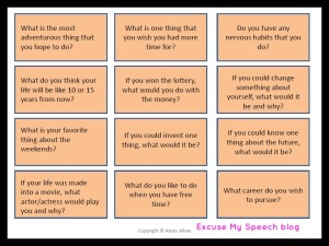 Get your students talking!  Great for Stuttering and Social Skills groups!
