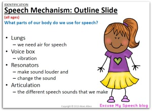 Teach your students who stutter about the speech mechanism