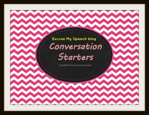 Conversation Starters -  A game to get your students talking!  Free TPT product