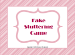 Fake Stuttering game