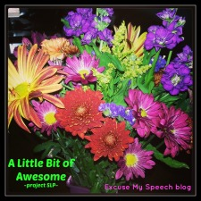 "Participate in my Project SLP and share ""A Little Bit of Awesome"" from your day!"