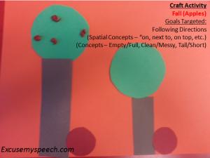 Apple craft activity - find more at Excusemyspeech.com