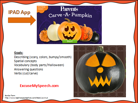 Halloween apps in speech