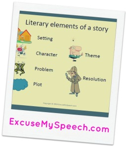 Literary Elements for Spookley story to help with retell and comprehension