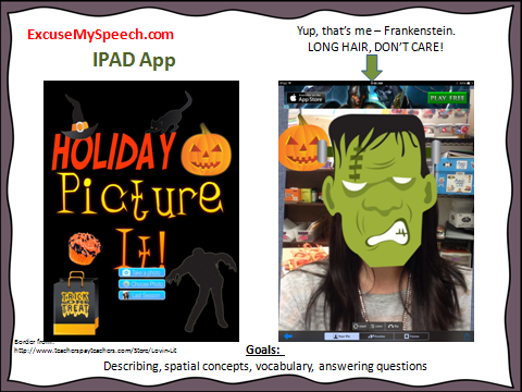 Halloween apps in speech therapy