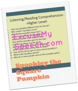 Lower and Higher Level Reading Comprehension Questions  with Spookley
