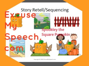 Visuals to help your students RETELL the Spookley story