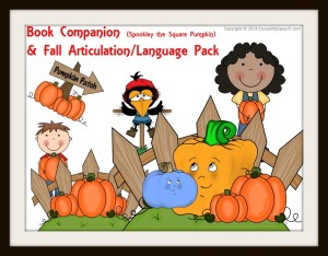 Spookley the Square Pumpkin TPT speech product - SO MANY POSSIBILITIES with this story