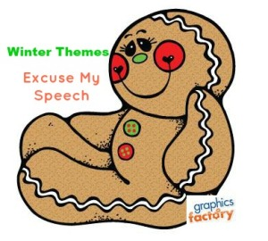 Gingerbread Theme for Winter:  Speech Therapy