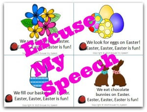 Easter Interactive book for Speech/Language therapy