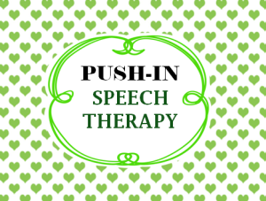 ideas for push-in speech therapy in a self-contained class